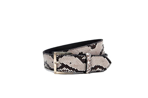 Bari Belt, Natural Snakeskin