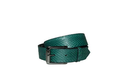 Bari Belt, Emerald Green Snakeskin