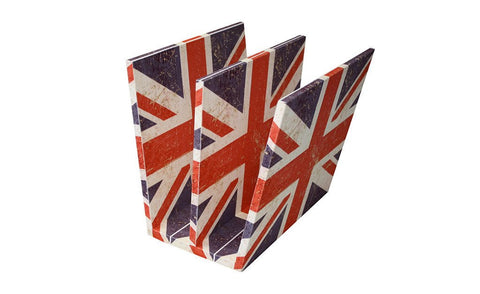 Berlin Magazine Rack, Sueded Cotton Union Jack