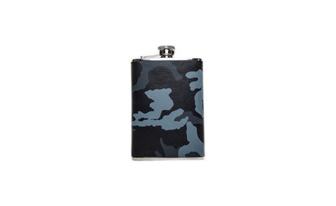 Dublin Flask, Blue Camo Leather