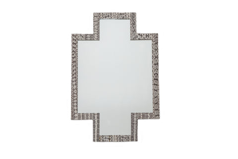 Jerusalem Cross Mirror, Black/White Landsnake