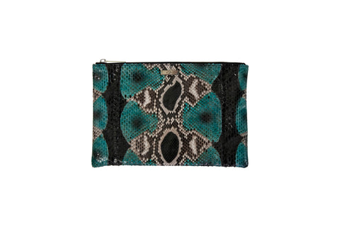 Harbor Island Clutch, Gemstone Snakeskin