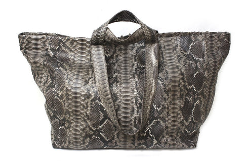 Antibes Duffle Bag, Earth Tone Snakeskin