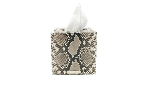 Copenhagen Tissue Box, Natural Snakeskin