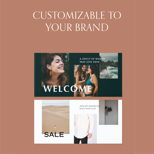 Facebook Template Pack for Businesses - Carli Anna Brand Shop