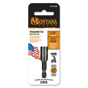 1/4 inch Standard Magnetic Nut Driver Made in USA