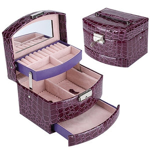 3 Layers Jewelry Boxes And Packaging Leather Makeup Organizer Storage Box Container Case Gift Box Women Cosmetic Casket