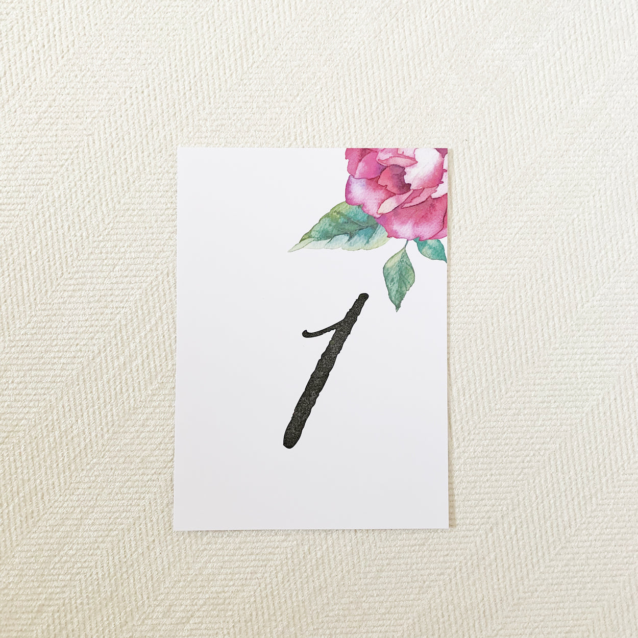 Watercolor Flower Table Numbers