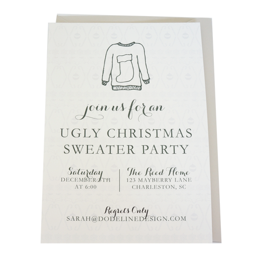 Ugly Sweater Party Invitation Holiday Christmas Party Invite
