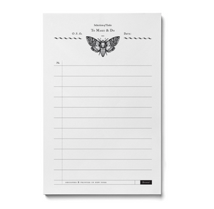 Death Head Moth Note pad