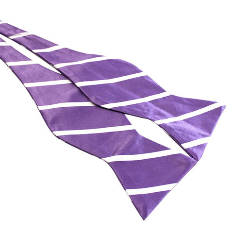 Tie Your Own Bow Tie - Violet and White Striped