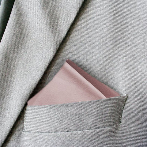 Dusty Pink Devotion Silk Pocket Square