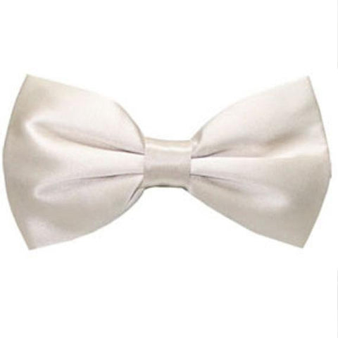 Ray of Ivory Silk Bow Tie