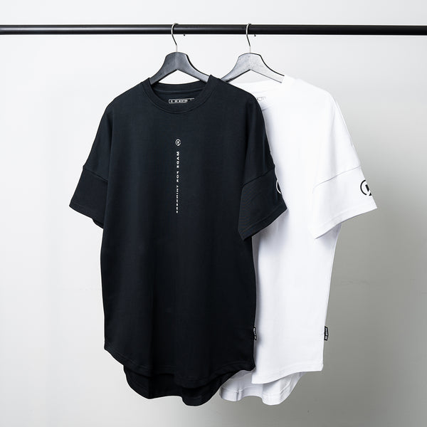 """Essential"" DS Scallop T-shirt - Black"