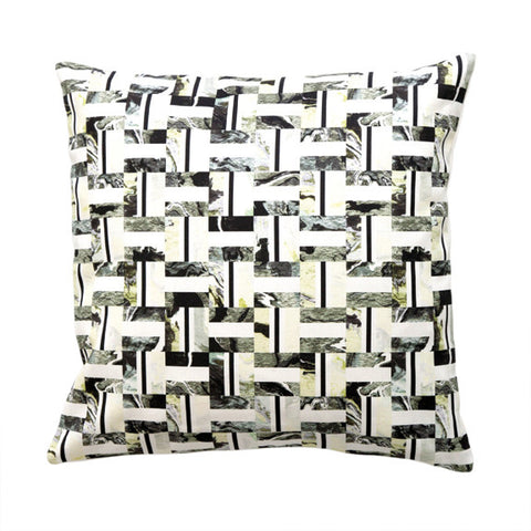 "INLAY PILLOW (20x20"") in Oyster"