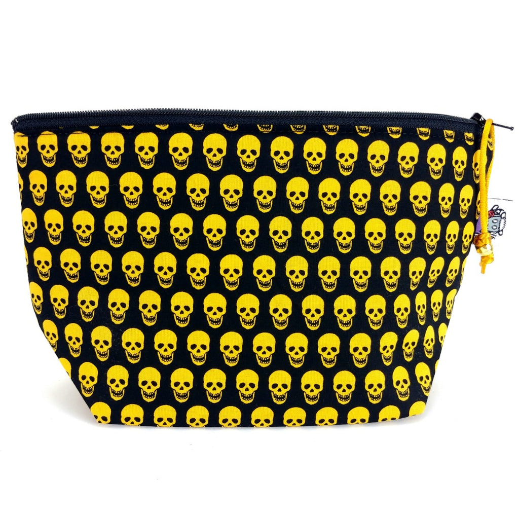 Skull Glam </br> Zipper Notion Pouch:Zipper Notion Pouch,Slipped Stitch Studios:Slipped Stitch Studios