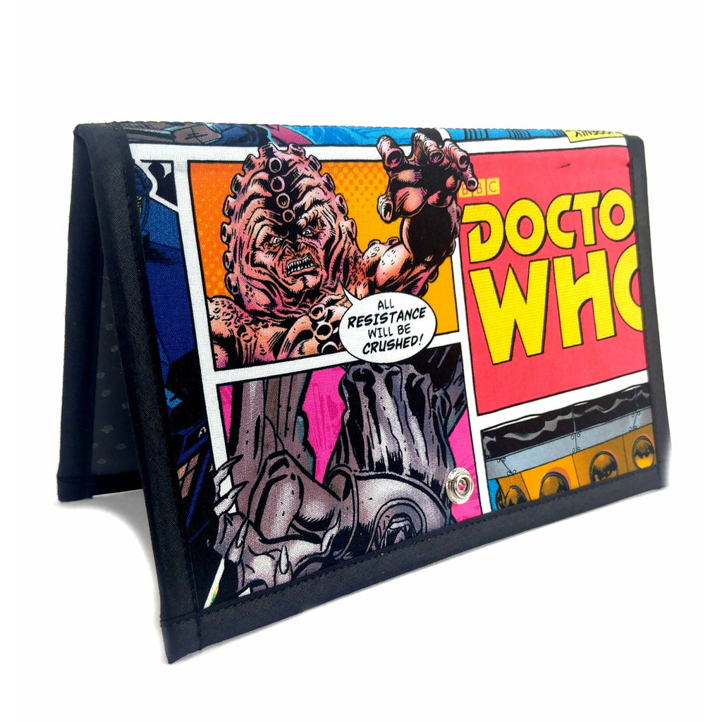 Doctor Who Villains Comic - 1 </br> Pattern Holder & Stand </br> Knit & Crochet Pattern Organizer:Pattern Wallet,Slipped Stitch Studios:Slipped Stitch Studios