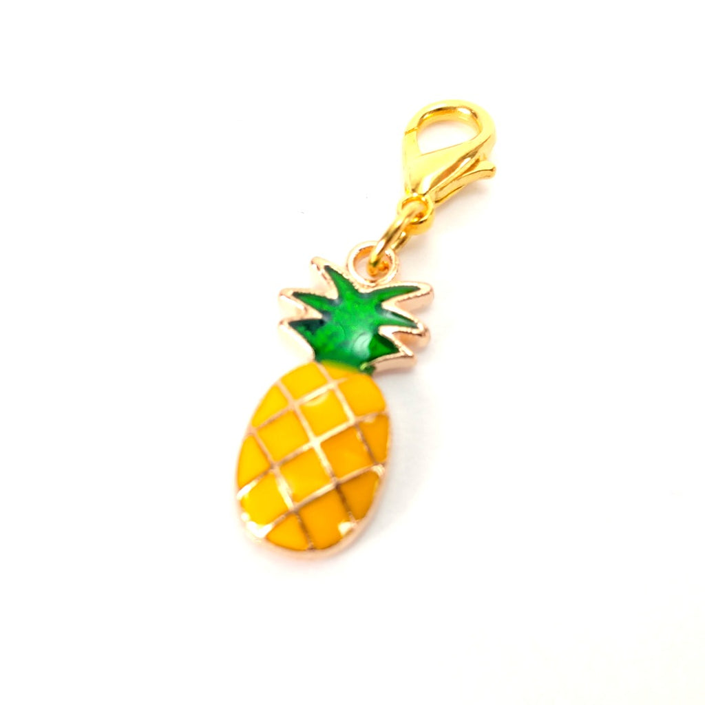 Pineapple (Gold Clasp Only) </br> Stitch Marker (Single):Stitch Markers,Slipped Stitch Studios:Slipped Stitch Studios