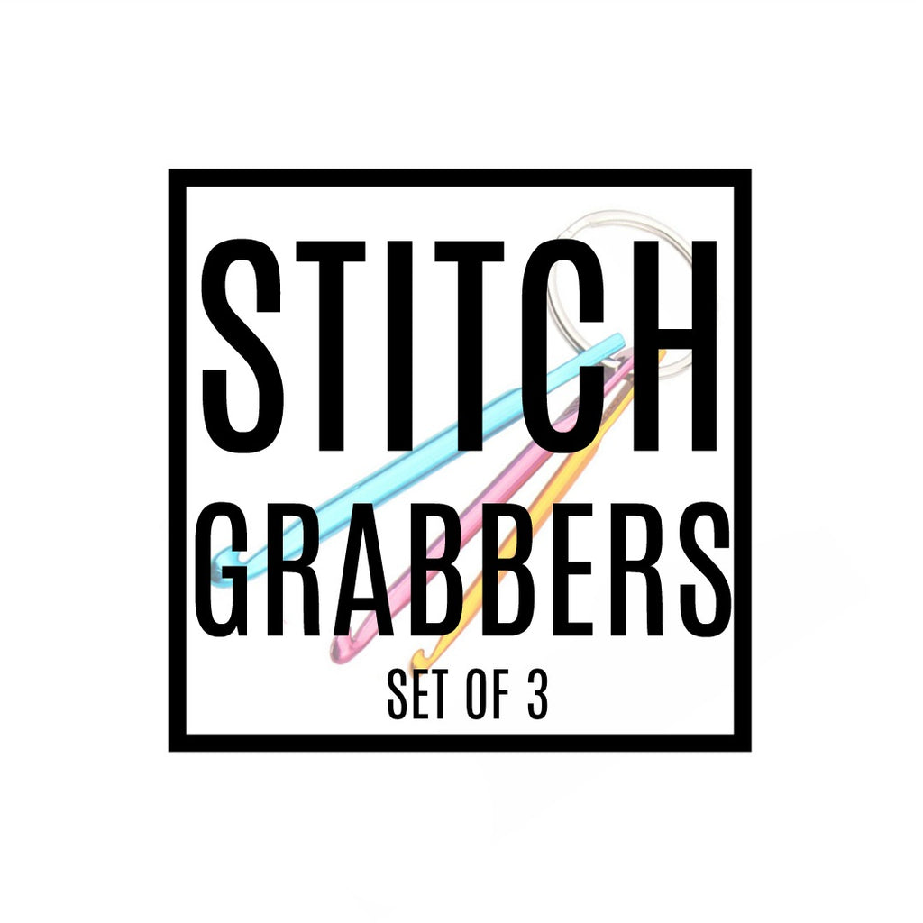 Stitch Grabber (Set of 3 - Royal Blue, Gold, Dark Pink):Accessories,Slipped Stitch Studios:Slipped Stitch Studios