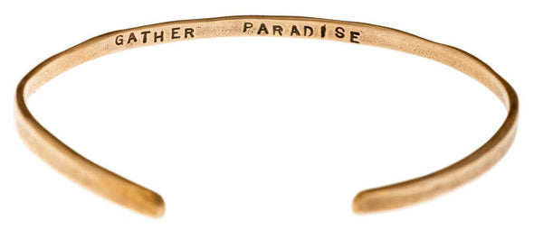 """Gather Paradise"" Cuff Bracelet in Bronze - Emily Dickinson ""I Dwell in Possibility"" by Marla Studio - ModernTribe - 2"