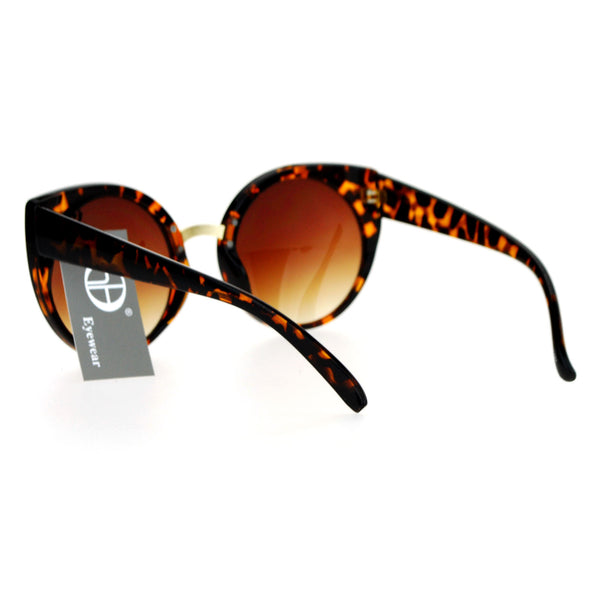 SA106 Womens Oversize Cat Eye Round Lens Plastic Diva Sunglasses