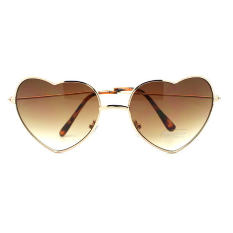 Metal Wire Rim Heart Shape Sunglasses (More Colors)