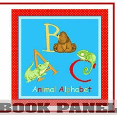 ABC Animal Alphabet Fabric Book Panel to Sew - QuiltGirls®
