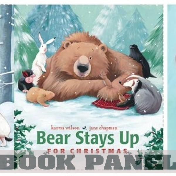 Bear Stays Up for Christmas Fabric Book Panel to Sew