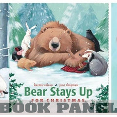 Bear Stays Up for Christmas Fabric Book Panel to Sew - QuiltGirls®
