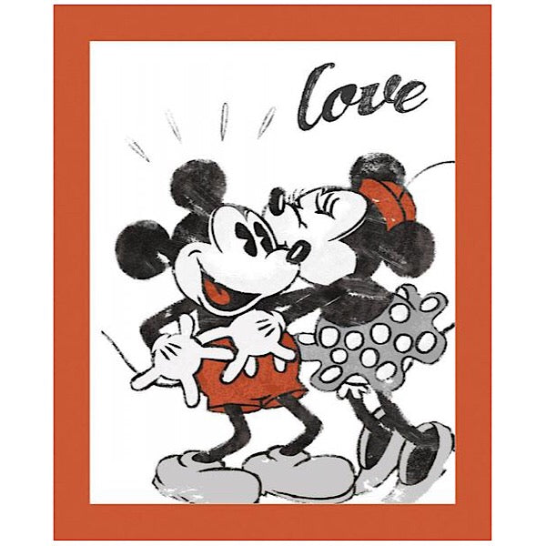 Mickey and Minnie Love Quilt Panel to sew