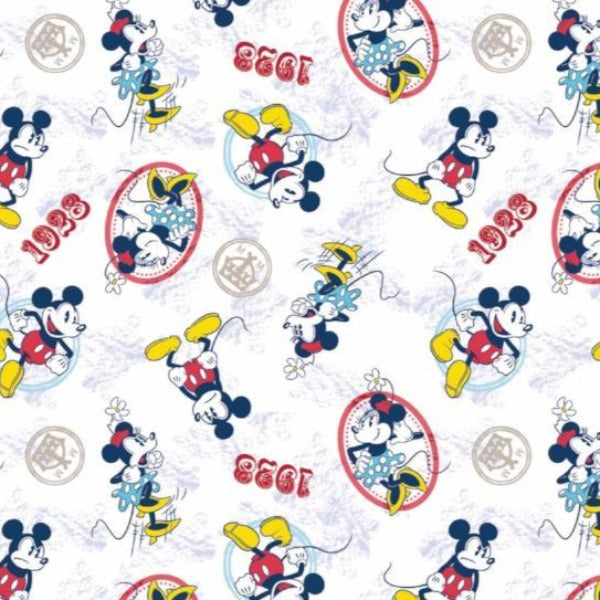 Mickey and Minnie Ideal Couple Fabric to sew