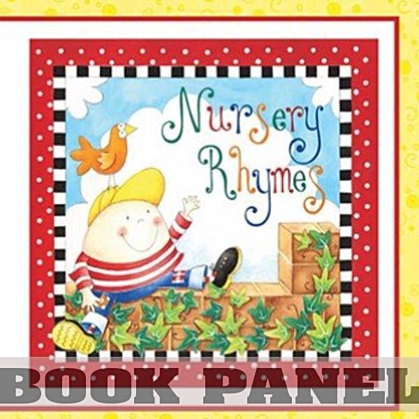 Nursery Rhymes Fabric Book Panel to Sew