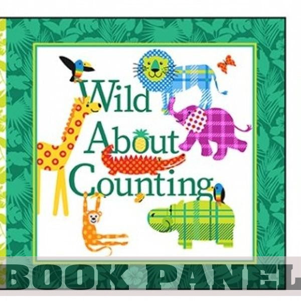 Wild About Counting Fabric Book Panel to Sew