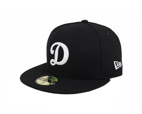"New Era 59Fifty Men's Hat Los Angeles Dodgers ""D"" Black Fitted Cap"