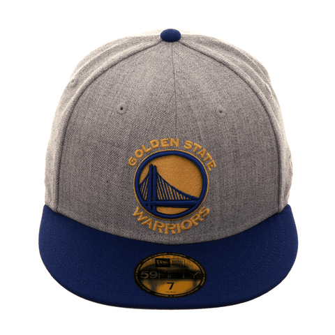 New Era 59Fifty Golden State Warriors Hat - 2T Heather Gray, Royal