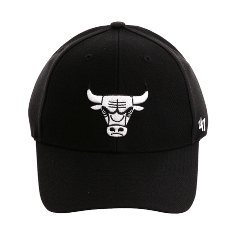 47 Brand Chicago Bulls MVP Adjustable Velcro Hat - Black, White