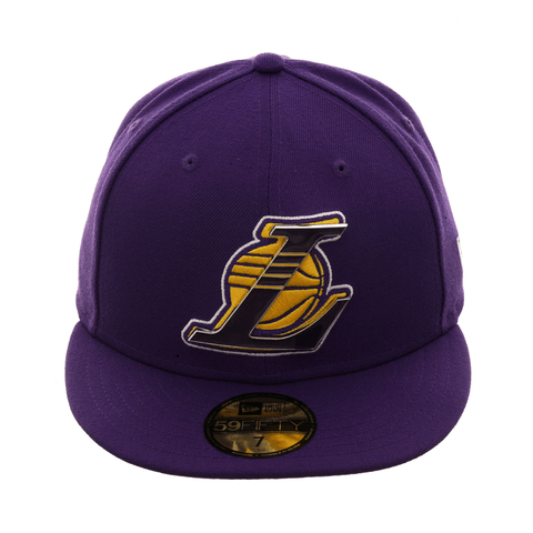 New Era 59Fifty Los Angeles Lakers Metal Thread Hat - Purple