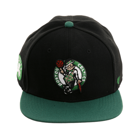 47 Brand Boston Celtics Sureshot Snapback Hat - 2T Black, Kelly Green