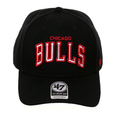 47 Brand Chicago Bulls Word MVP Reflective Strapback Hat - Black