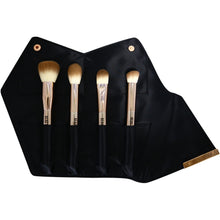 Load image into Gallery viewer, Rose Gold Complexion Perfection Makeup Brush Set - 4 Piece - Beau Belle Brushes