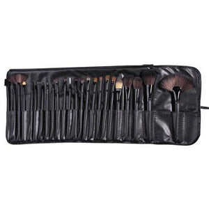 Classic Black Make Up Brush Set - 24 Piece - Beau Belle Brushes