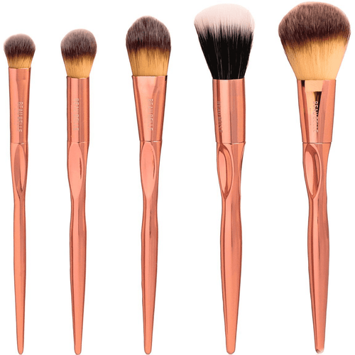 Rose Gold Essential Set - 5 Piece - Beau Belle Brushes