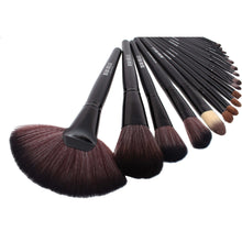 Load image into Gallery viewer, Classic Black Make Up Brush Set - 24 Piece - Beau Belle Brushes