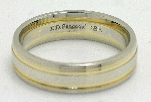 C.D. Peacock 18KT White Gold Wedding Band - Chicago Pawners & Jewelers