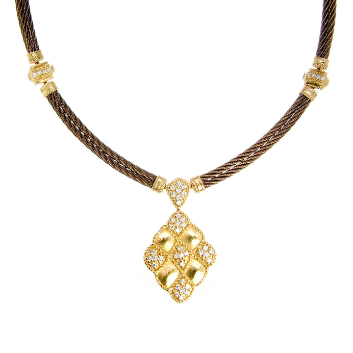 Charriol Petra Flamme Blanche Diamond Necklace - Chicago Pawners & Jewelers