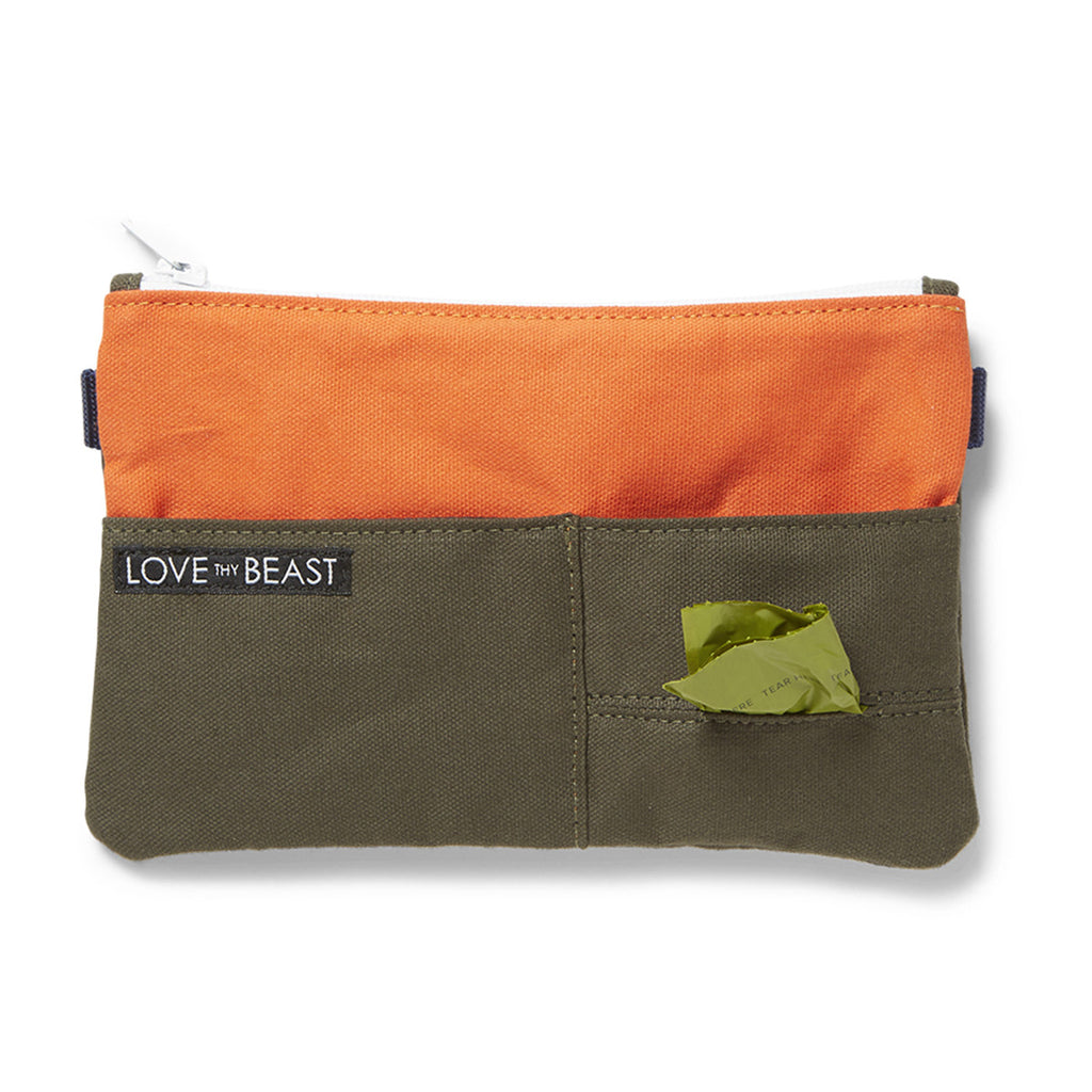 Canvas Pouch Olive - Cross body + Pet Tote Attachment