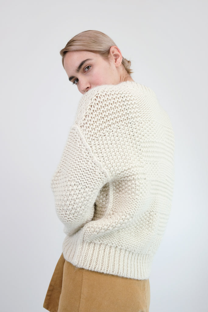 Cream Ply Knit Pullover