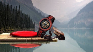 WOODEN WATCH MOUNTAINS NATURAL WOOD WATCH
