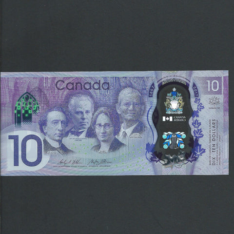 Canada $10 polymer, 150 year commemorative, UNC