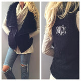 Monogram Faux Fur Vest